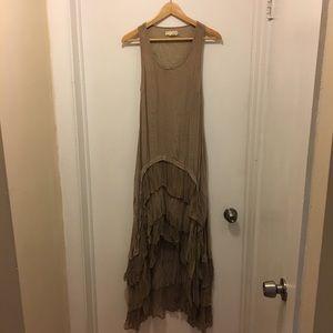 A'reve Ruffled High Low Dress - M